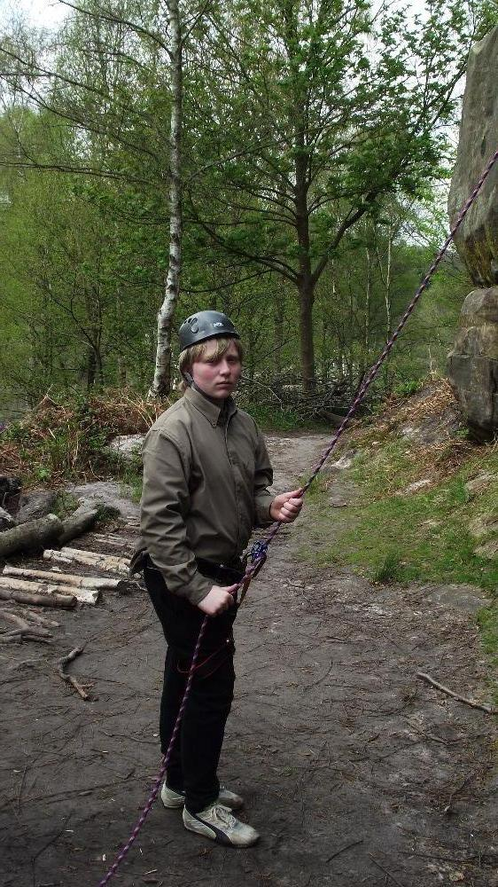 Trying some belaying