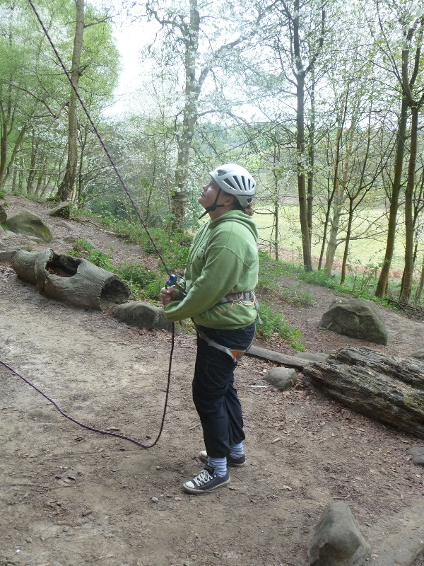 Explorers take ago at belaying