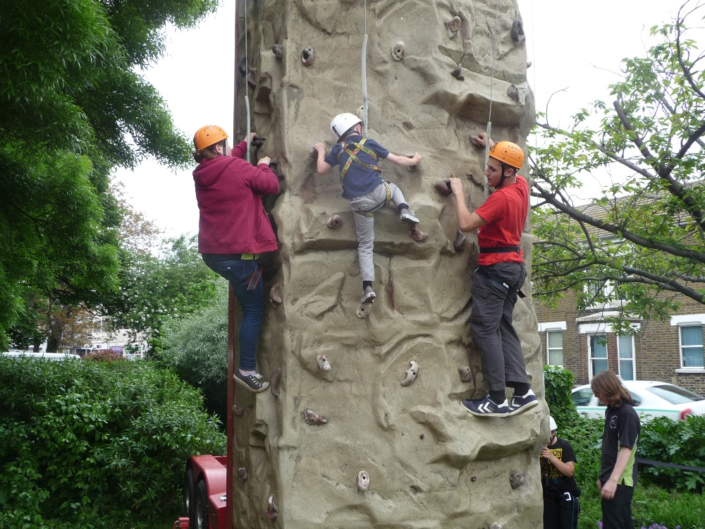 Explorers helping young people to climb!